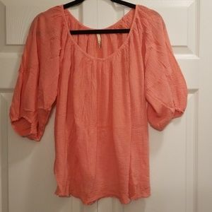 Cotton Short Tunic (Coral)